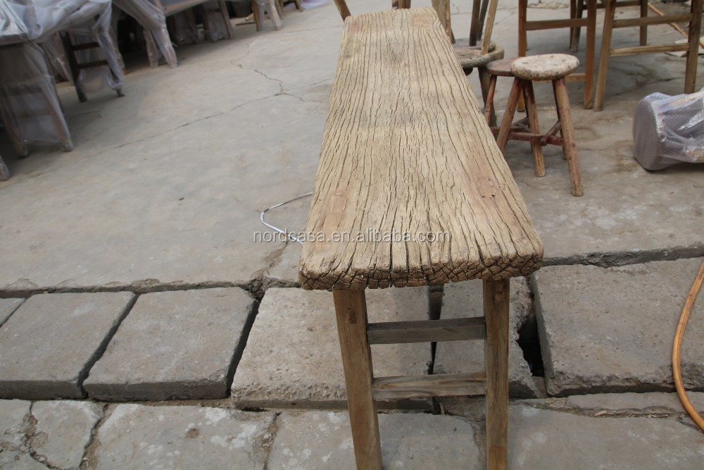 Outdoor Wholesale Rustic Reclaimed Wood Furniture Chinese Antique Old Pine Made Furniture Rustic