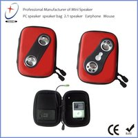New style portable speaker case, with stereo sound,good for promotion