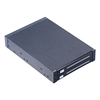 Dual bay 2.5 inch 7-9.5mm SATA internal hdd mobile rack with hot-swap for 3.5in floppy pc bay with trayless