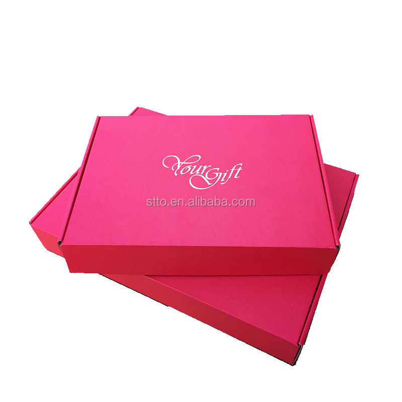 Dark pink gift paper box for packaging apparel box for packaging
