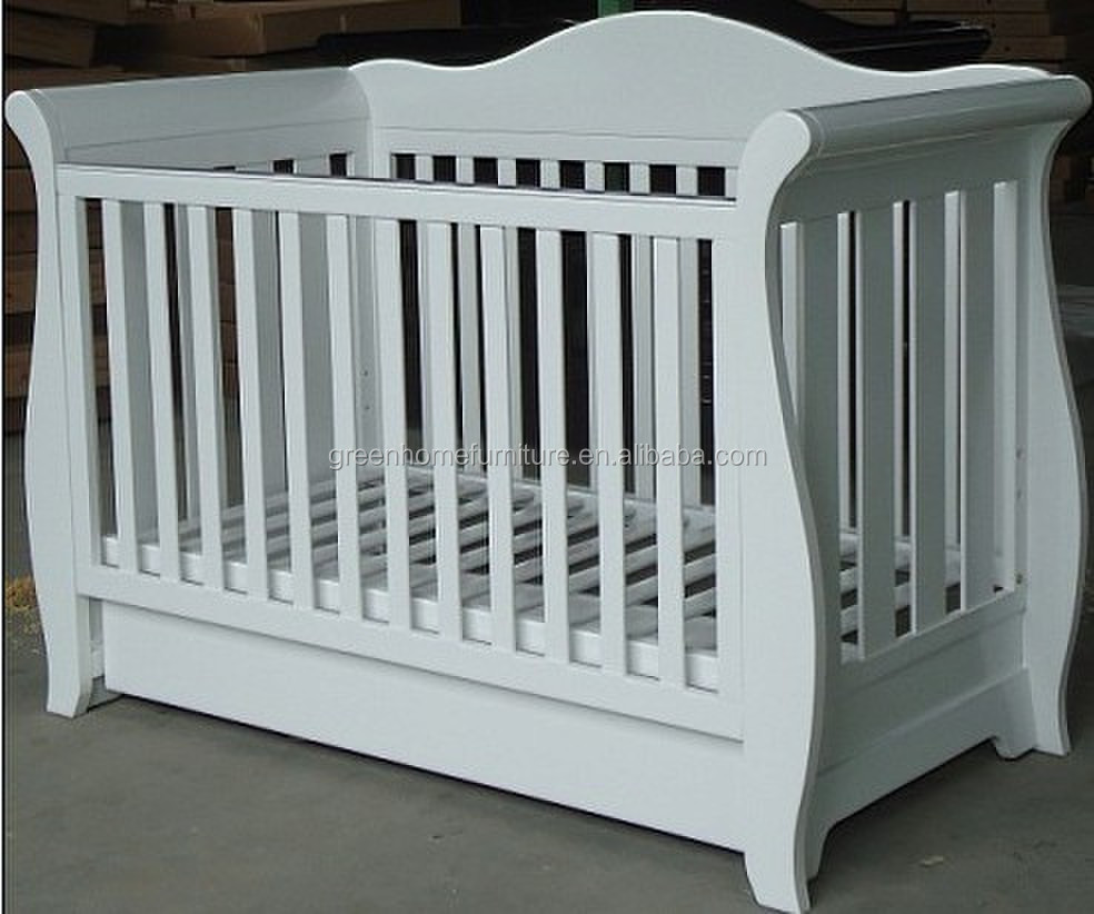 Certified Australia wooden baby cot with drawer