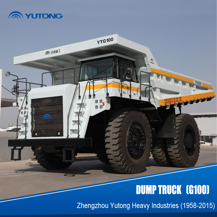 YUTONG 100 ton mining dump truck with cummins engine