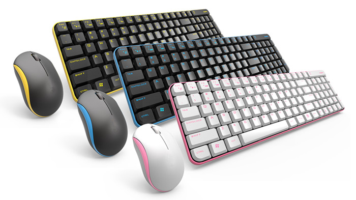 High Quality 2.4Ghz Optical Engine for Business Use Mouse and Keyboard Combo