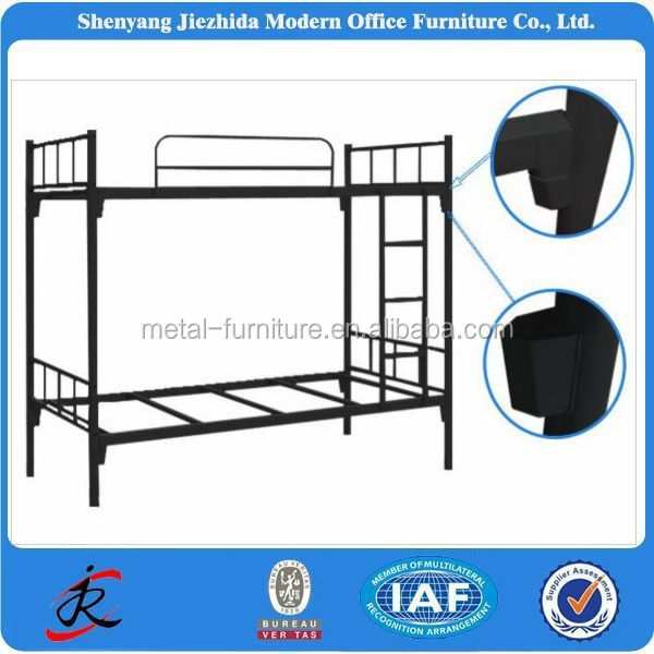 Factory prices used dubai metal bunk bed frame/ folding cheap metal bunk beds for sale