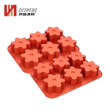 Five Star Shape 6 Cups 3D Commercial Silicone Decorative Making Soap Molds