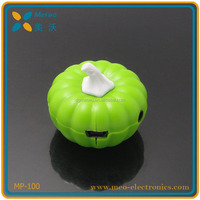 Fashional kids & young people favorite pumpkin mini music mp3 player