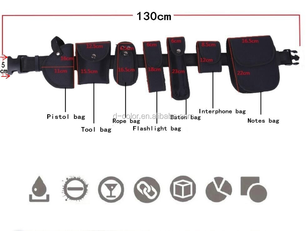 8pcs Multifunction Tactical belt police belt set security belt outdoor tools