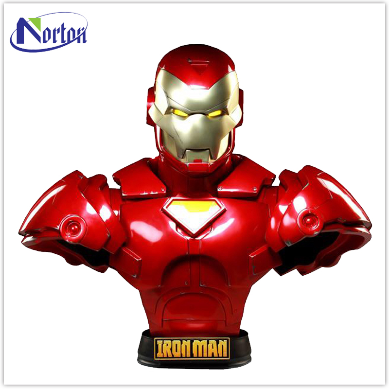 Home decor life size resin sculpture fiberglass iron man statue NT-FS168K