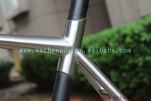 road bike frame Taper head tube titanium touring bike frame flat mount Titanium & carbon bike frame