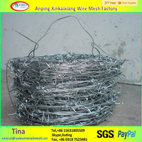 Cross barbed wire/ anti climbing hot dipped galvanized spiral barbed wire