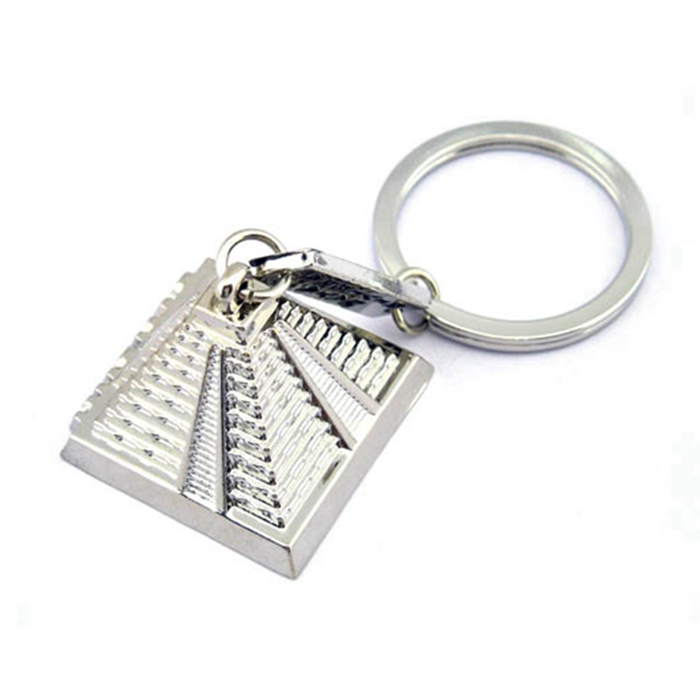 Exclusive Decorate Souvenir Item Custom Metal Cancun Souvenir Keychain Keyring