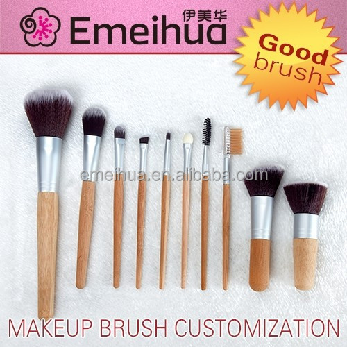 10pcs personalized wholesale makeup brushes set