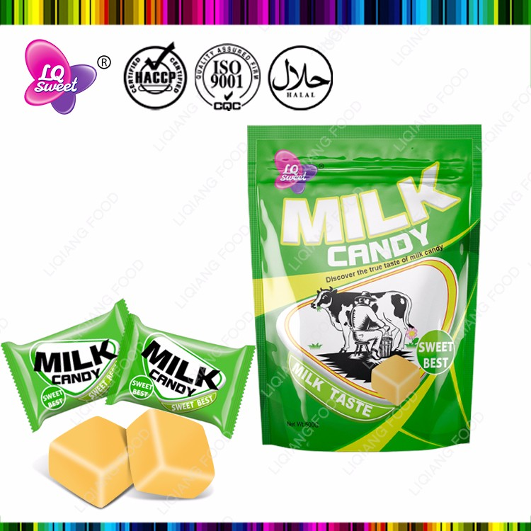 Halal sweet hard milk flavor chewy candy