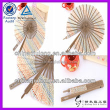 Round Gifts Crafts Folding Bamboo Hand Fan