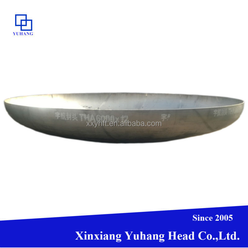 Stainless steel Dished seal head end for boilers and containers