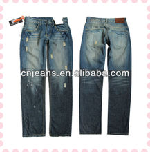 2013 new style fashion men jeans ripped jeans for men