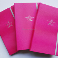 Silver Stamping Logo A5 Pink Leather