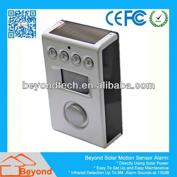 Laser Motion Sensor Beyond Motion Sensor Spot Alarm With Solar Panel