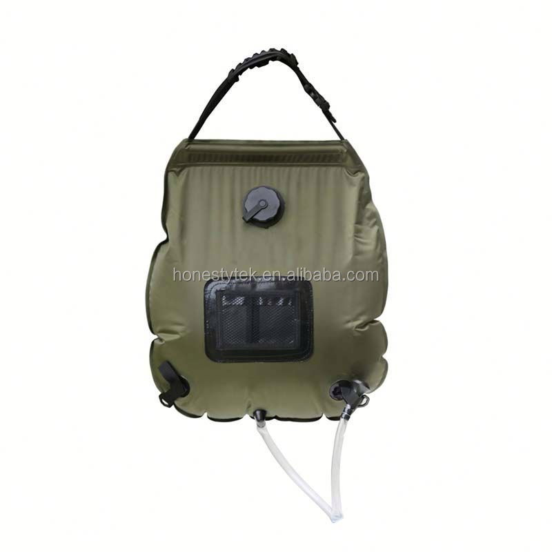 HT063 Outdoor 100L camping shower bag solar water bladder