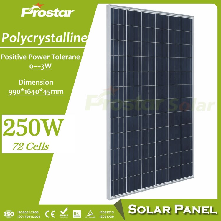 Prostar renewable energy 500 watt solar panel with OEM/ODM services