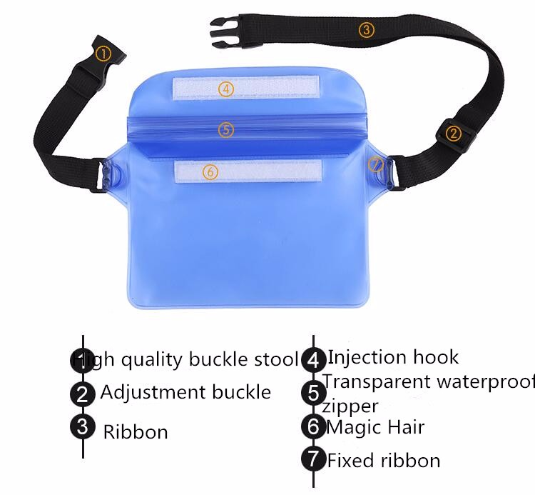 HAISSKY waterproof running belt, running surfing jogging waterproof bag