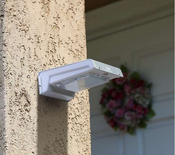 Wall Mount Solar Lamp with Motion Sensor for Security