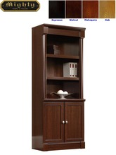Wooden Walnut Classic 3 Shelf Library Bookcase
