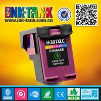 Tri-color compatible for cheap hp ink cartridges HP301 XLC(CH564EE)