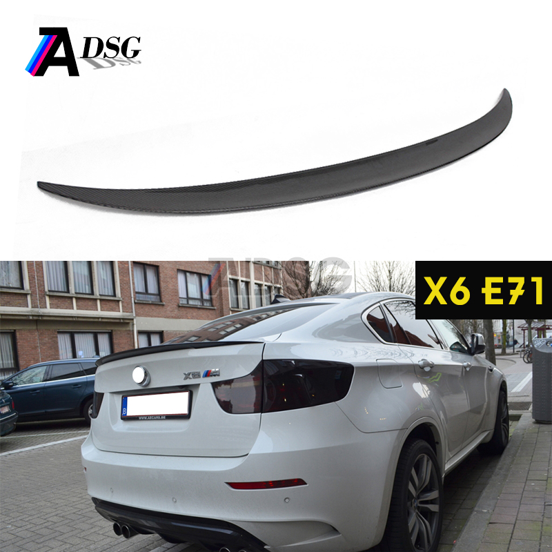 ///M performance style carbon fiber rear trunk spoiler for BMW X6 E71 E72