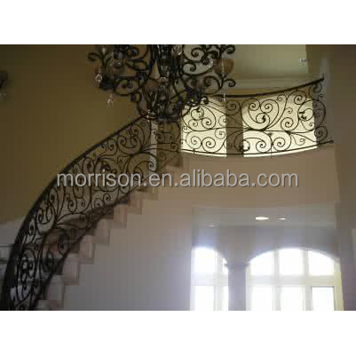 cheap price wrought iron spiral staircase