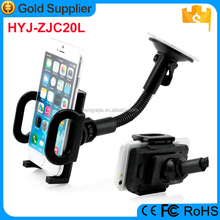 Stable sucker mobile holder, long Arm phone car mount holder for Samsung Galaxy S7 Edge S6 S5