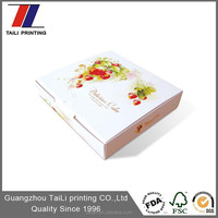 Printed disposable paper cookie box