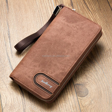 Hot sell Baellerry phone case long pu leather mens slim wallet