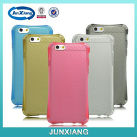 crystal four corner Tpu case for iphone 6 anti finger print
