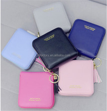 pu leather short style zipper fancy coin wallet coin purse