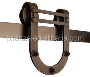 North American market sliding U shaped barn door hardware hanging rollers