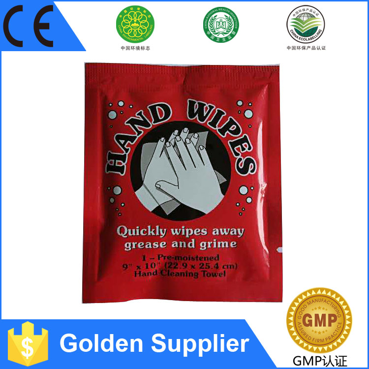 Yiwu famous brand supplier single restaurant wet wipes for custom