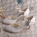 Popular Bridal Shoes White Lace