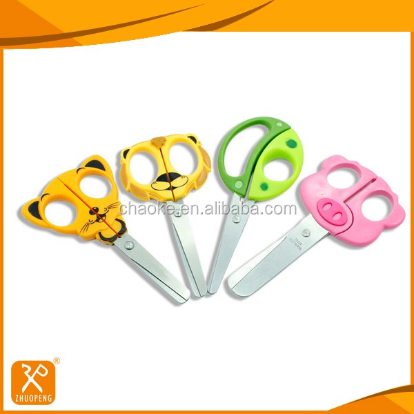 Fancy style plastic handle small animal craft scissors