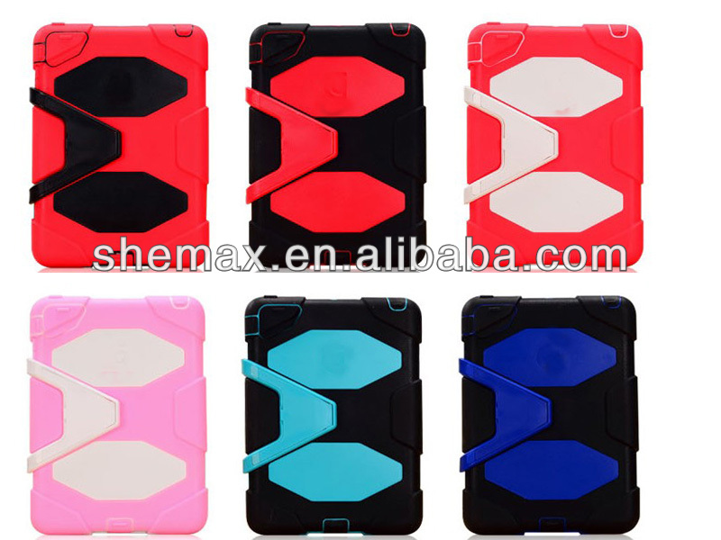 Shock Proof Dustproof Silicon Builder Case Cover for ipad 2/3/4/air with 3D image