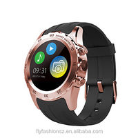 GPS bluetooth round touch screen waterproof android smart watch phone with wrist watch phone
