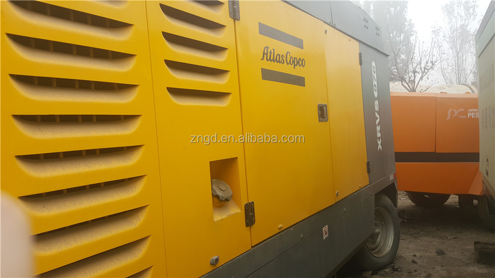 Mobile type Atlas Copco XRVS976 air compressor used condition Atlas Copco XRVS976 screw portable air compressor for sale