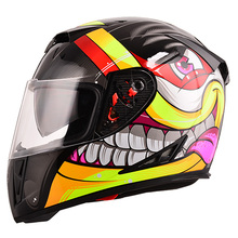 China hot sale DOT approved double visors full face motorcycle helmet