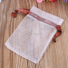 white Top grade drawstring bag/Exquisite transparent yarn bag/Polyester Organza bag pouch