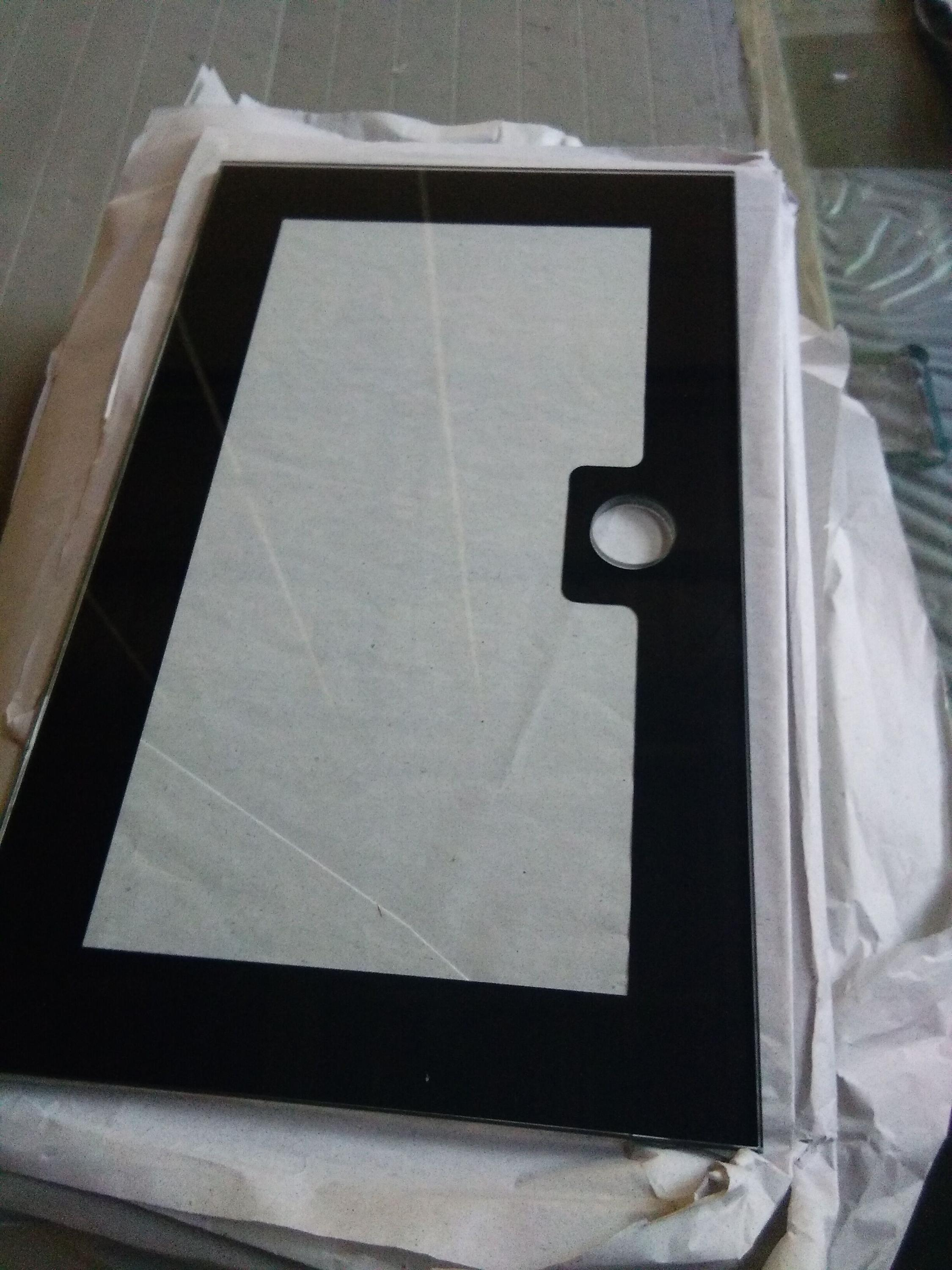 Tempered glass panels for electronic product with silk-screen printing