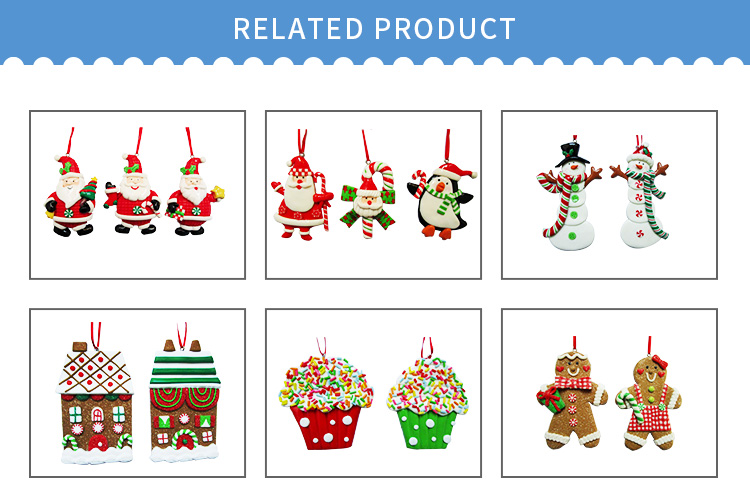 Shenzhen factory wholesale colorize Clay Dough Christmas decorations Christmas Ornaments