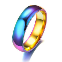 Rainbow Stainless Steel Turkish Man Ring Ally Express Cheap Wholesale O Ring