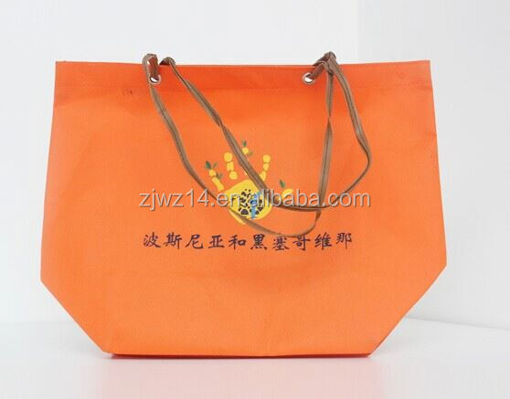 cheap fashion eco friendly bags/ colorful pp coated non woven bag/ pillow cases nonwoven fabric