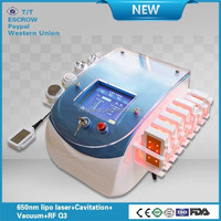 Cellulite vacuum cavitation weight loss multifunction cavitation laser fat burning machine