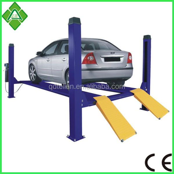 Four post double tier hotel parking system